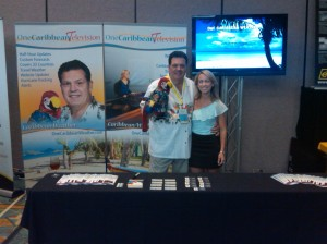 Liz and Joe at OCTV booth